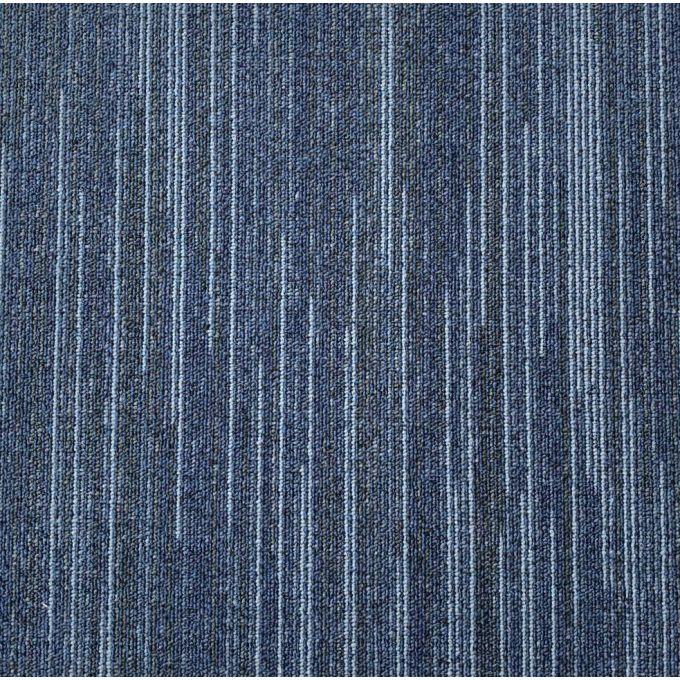 Sample of Zetex Lines Blue - Cushion Back