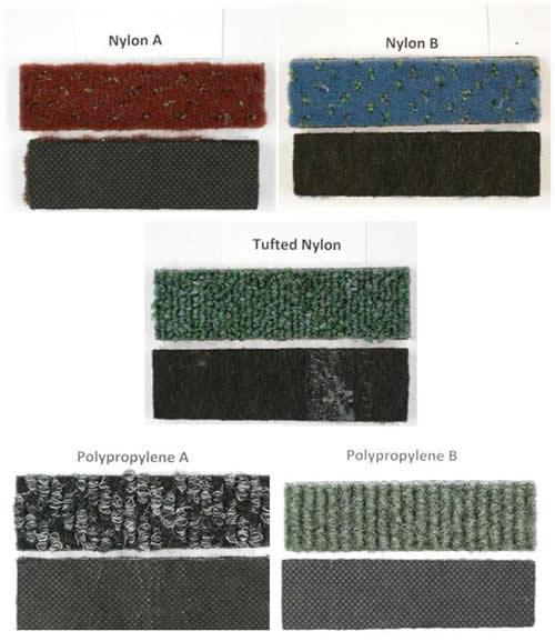 Carpet Tile Waste Samples